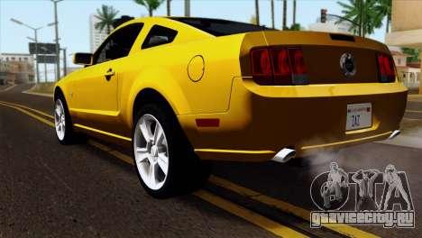 Ford Mustang GT Wheels 1 для GTA San Andreas вид слева