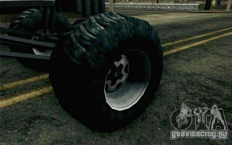 Chevrolet Camaro Z28 Monster Truck для GTA San Andreas вид сзади слева