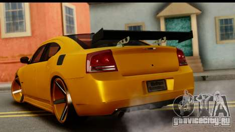 Dodge Charger SRT8 2006 Tuning для GTA San Andreas вид слева