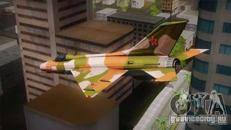 MIG 21 Russian Camo Force для GTA San Andreas вид слева