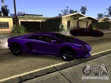 Lamborghini Aventador Tron для GTA San Andreas вид сверху