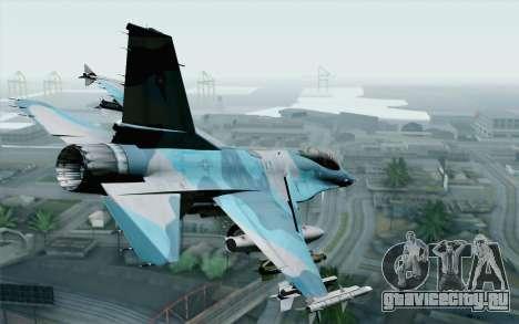 F-16C Fighting Falcon NSAWC Blue для GTA San Andreas вид слева