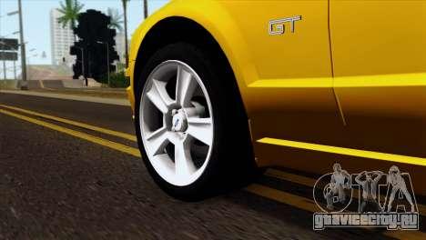 Ford Mustang GT Wheels 1 для GTA San Andreas вид сзади слева