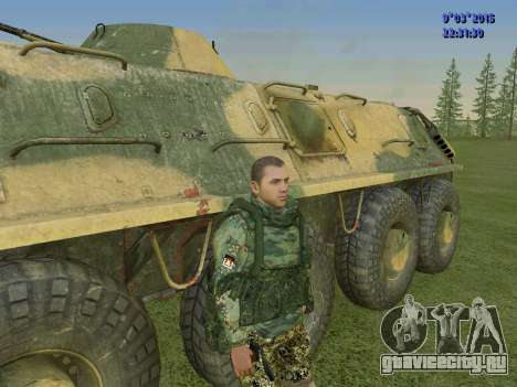 Боец из батальона Спарта для GTA San Andreas третий скриншот