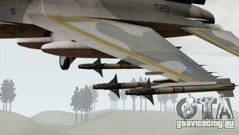 F-16 Scarface Squadron для GTA San Andreas вид справа