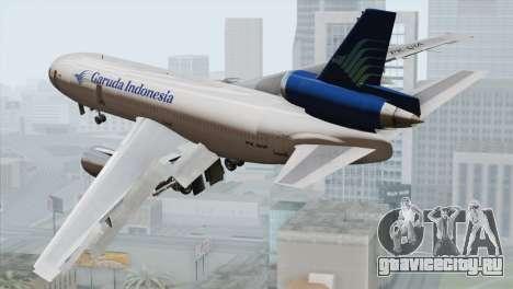 DC-10-30 Garuda Indonesia для GTA San Andreas вид слева