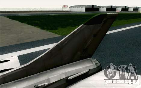 MIG-21 Fishbed C Vietnam Air Force для GTA San Andreas вид сзади слева