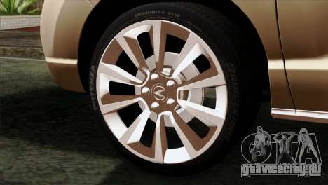 Acura MDX 2009 для GTA San Andreas вид сзади слева