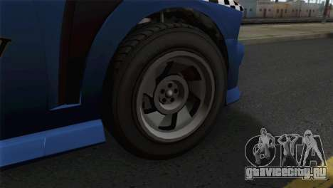 GTA 5 Bravado Buffalo S Downtown Cab Co. для GTA San Andreas вид сзади слева