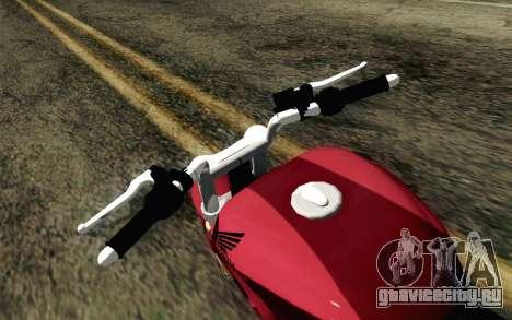 Honda Twister 250 v2 для GTA San Andreas вид справа