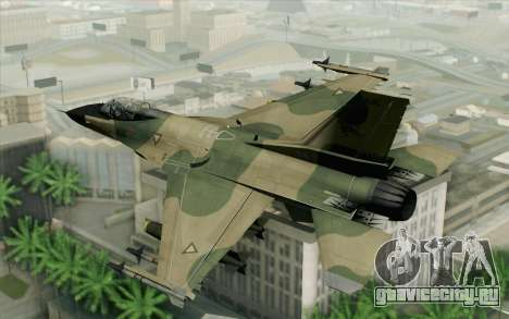 F-16 Fighter-Bomber Green-Brown Camo для GTA San Andreas вид слева