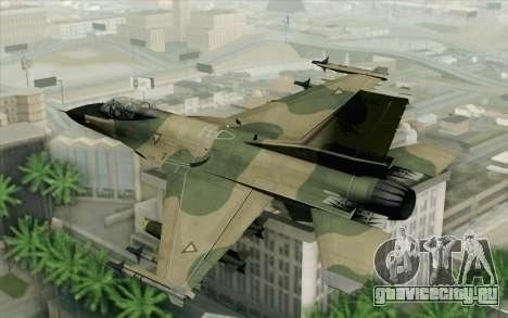 F-16 Fighter-Bomber Green-Brown Camo для GTA San Andreas вид слева