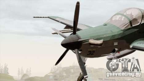 Embraer A-29B Super Tucano FAB для GTA San Andreas вид сзади