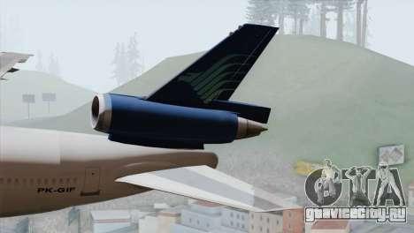DC-10-30 Garuda Indonesia для GTA San Andreas вид сзади слева