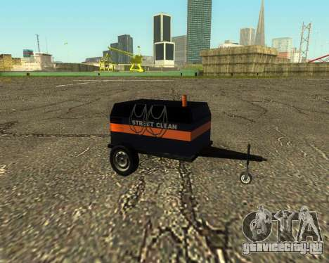 Multi Utility Trailer 3 in 1 для GTA San Andreas вид сзади слева