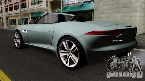 Jaguar F-Type для GTA San Andreas вид слева