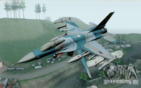 F-16C Fighting Falcon Aggressor BlueGrey для GTA San Andreas