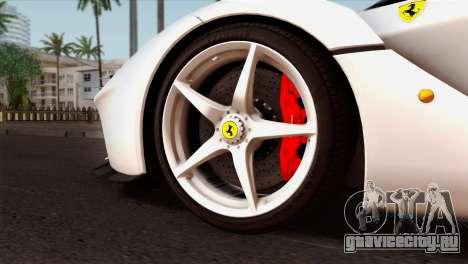 Ferrari LaFerrari 2015 для GTA San Andreas вид сзади слева