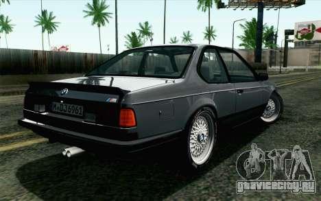 BMW M635CSI E24 1986 V1.0 EU Plate для GTA San Andreas вид слева
