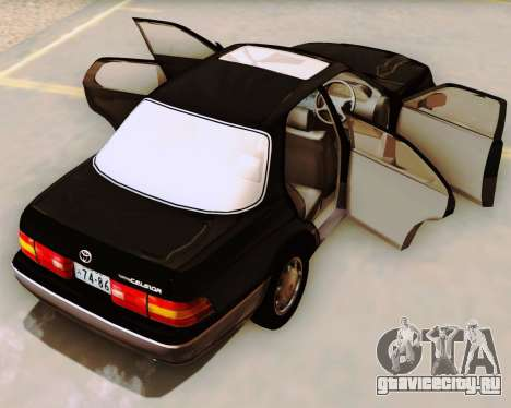 Toyota Celsior для GTA San Andreas вид изнутри