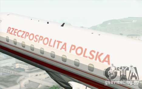Embraer EMB-175 Republic Of Poland для GTA San Andreas вид справа