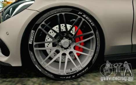 Mercedes-Benz C250 AMG Brabus Biturbo Edition для GTA San Andreas вид сзади слева