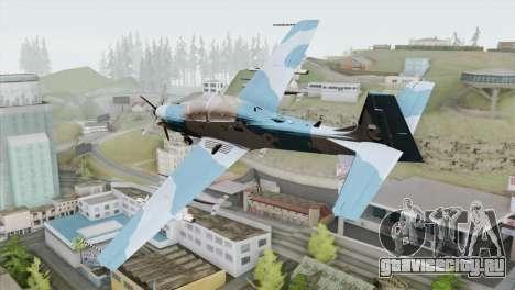 Embraer A-29B Super Tucano Navy Blue для GTA San Andreas вид слева