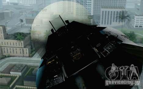 F-16C Fighting Falcon Aggressor BlueGrey для GTA San Andreas вид сзади