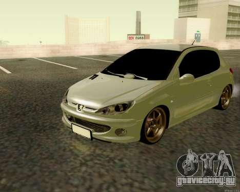 Peugeot 206 Street Racer Tuning для GTA San Andreas
