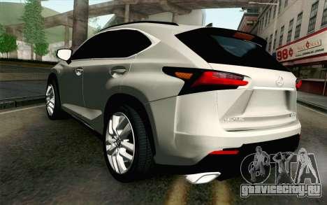 Lexus NX 200T v2 для GTA San Andreas вид слева