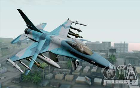 F-16C Fighting Falcon NSAWC Blue для GTA San Andreas