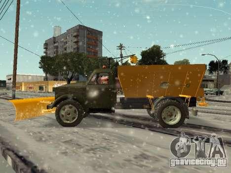 ГАЗ 51 снегоуборочная машина для GTA San Andreas вид слева