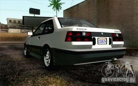 GTA 5 Karin Futo IVF для GTA San Andreas вид сзади