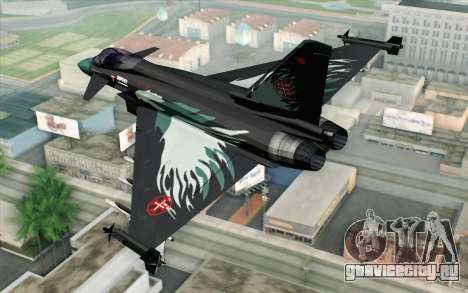 EuroFighter Typhoon 2000 Black Hawk для GTA San Andreas вид слева