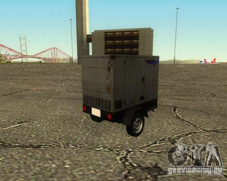 Multi Utility Trailer 3 in 1 для GTA San Andreas вид изнутри