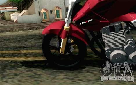 Honda Twister 250 v2 для GTA San Andreas вид сзади слева