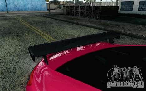 Honda Civic SI 2013 для GTA San Andreas вид сзади