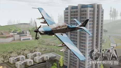 Embraer A-29B Super Tucano Navy Blue для GTA San Andreas