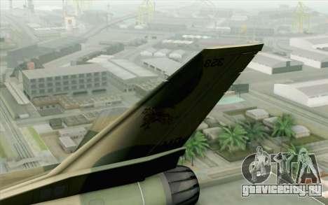 F-16 Fighter-Bomber Green-Brown Camo для GTA San Andreas вид сзади слева