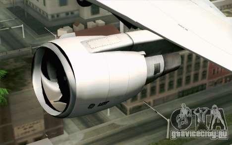 Boeing 767-300 PLL LOT для GTA San Andreas вид сзади