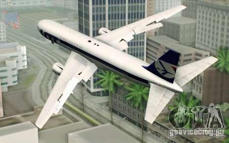 Boeing 767-300 PLL LOT для GTA San Andreas вид слева