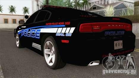 Dodge Charger 2013 LSPD для GTA San Andreas вид слева
