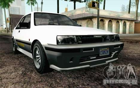 GTA 5 Karin Futo IVF для GTA San Andreas