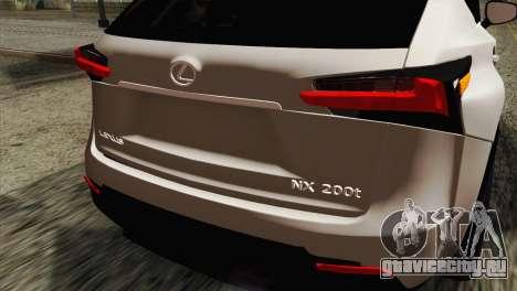 Lexus NX 200T для GTA San Andreas вид сзади