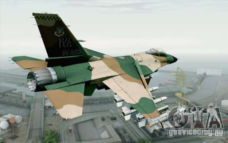 F-16C Fighting Falcon Aggressor 272 для GTA San Andreas вид слева