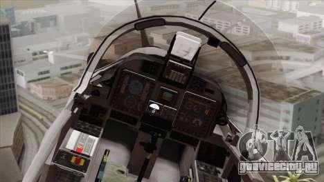 Embraer A-29B Super Tucano Low Visibility для GTA San Andreas вид сзади