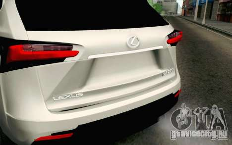 Lexus NX 200T v2 для GTA San Andreas вид сзади