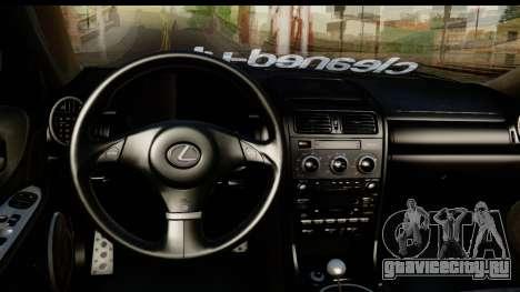 Lexus IS300 для GTA San Andreas вид сзади