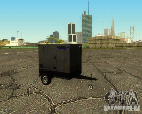 Multi Utility Trailer 3 in 1 для GTA San Andreas вид сзади