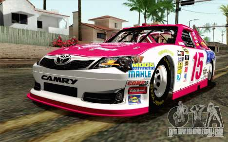 NASCAR Toyota Camry 2012 Plate Track для GTA San Andreas